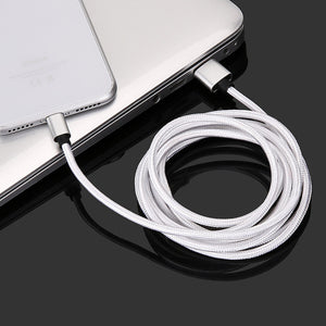 Ultra Long Tangle-Free Nylon Braided Charger USB Cable Charging Cord for IPhone/Android/Type-C (3.3ft=1m 6.6ft=2m 9.9ft=3m)