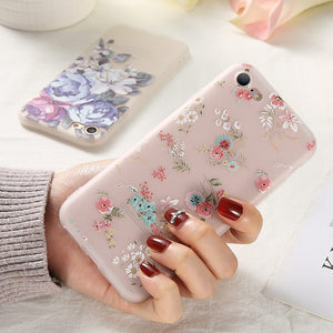 KISSCASE TPU 3D Floral Case for Huawei P20 Lite Mate 20 10 lite Cover Embossed Flower Case for Huawei P Smart 2019 P20 P30 Coque