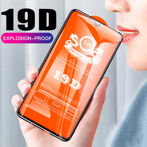 19D Full Cover Tempered Glass For Huawei Honor 10 P20 P30 Pro Mate 10 20 Lite 8X 8A Screen Protector Film P Smart 2019 Glass