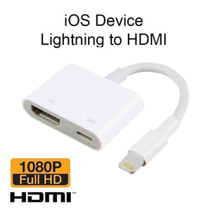 8 Pin Digital AV Adapter Lightning to HDMI Cable Adapter for Apple iPhone X 8 7 iPad