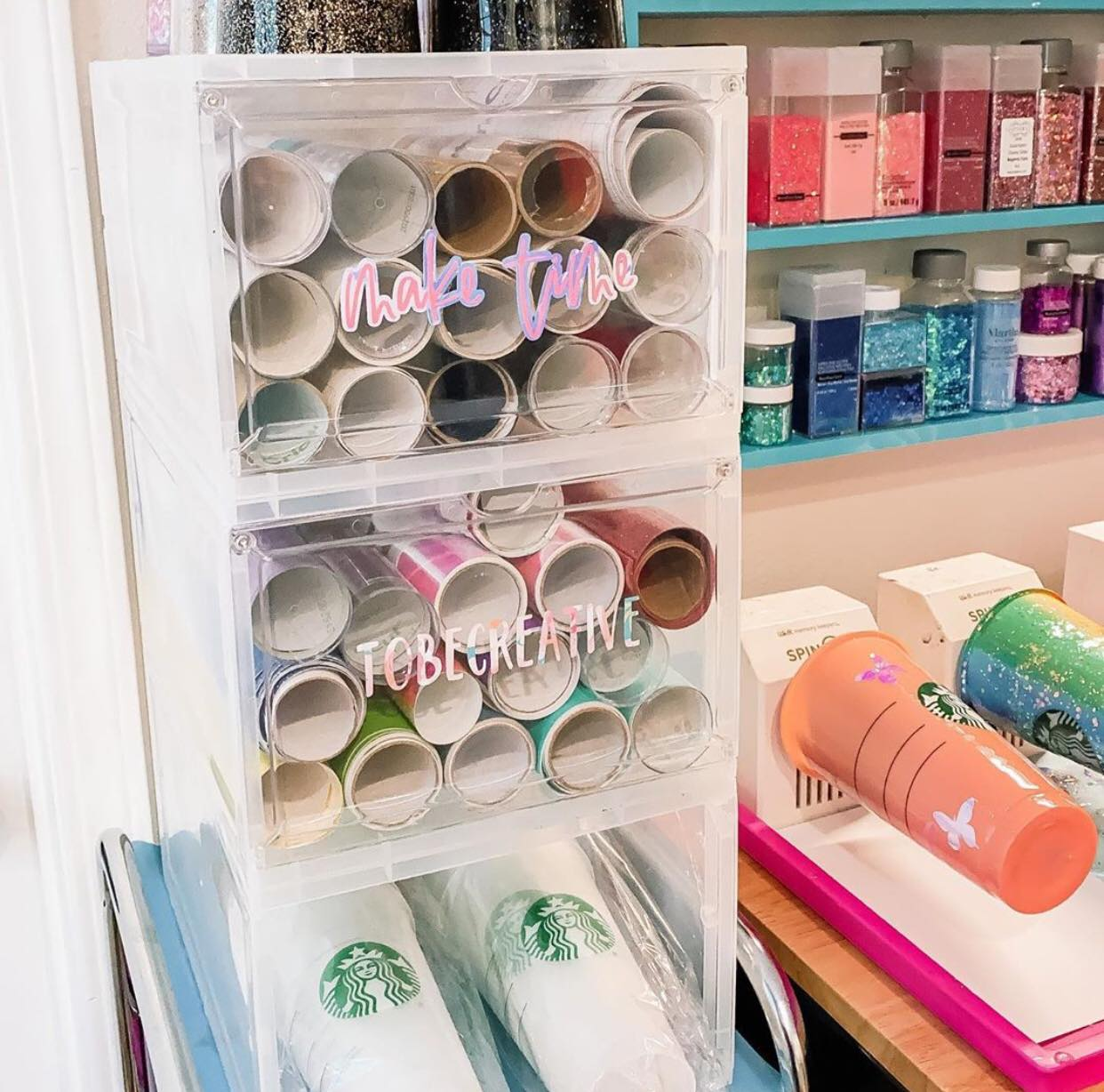 3 Lotsa Style Storage Solutions for your Craft Room