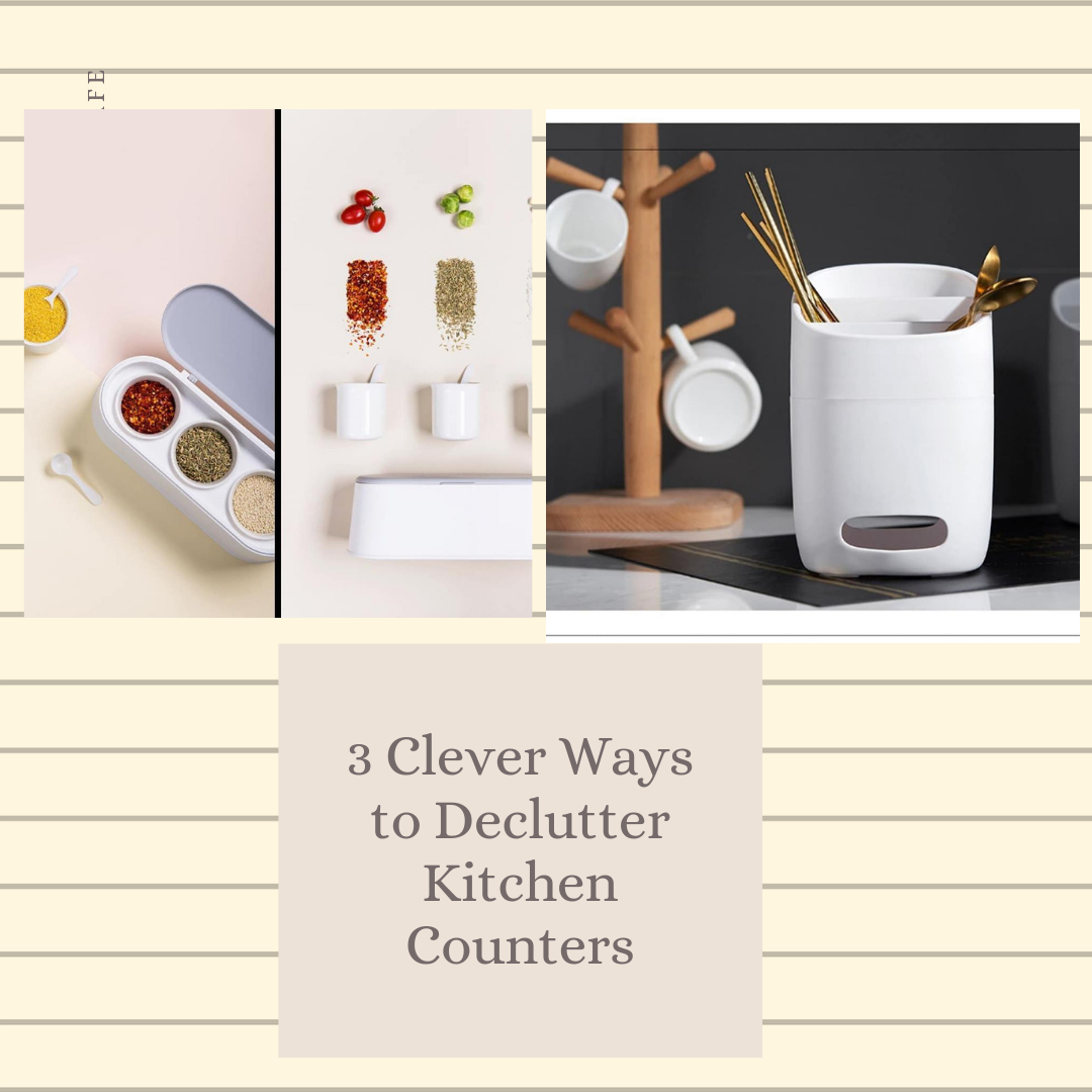 3 Clever Ways to Declutter Kitchen Counters