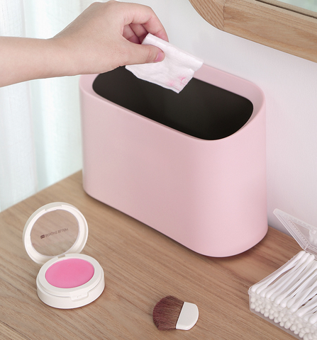 mini trash can pink