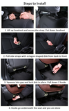 Universal Leather Backseat Car Organizer Protector Kick Mats with Foldable Tray
