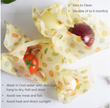 Reusable Silicone Food Storage & Beeswax Food Wraps Bundle