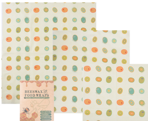 3 Pack Reusable Beeswax Food Storage Wraps