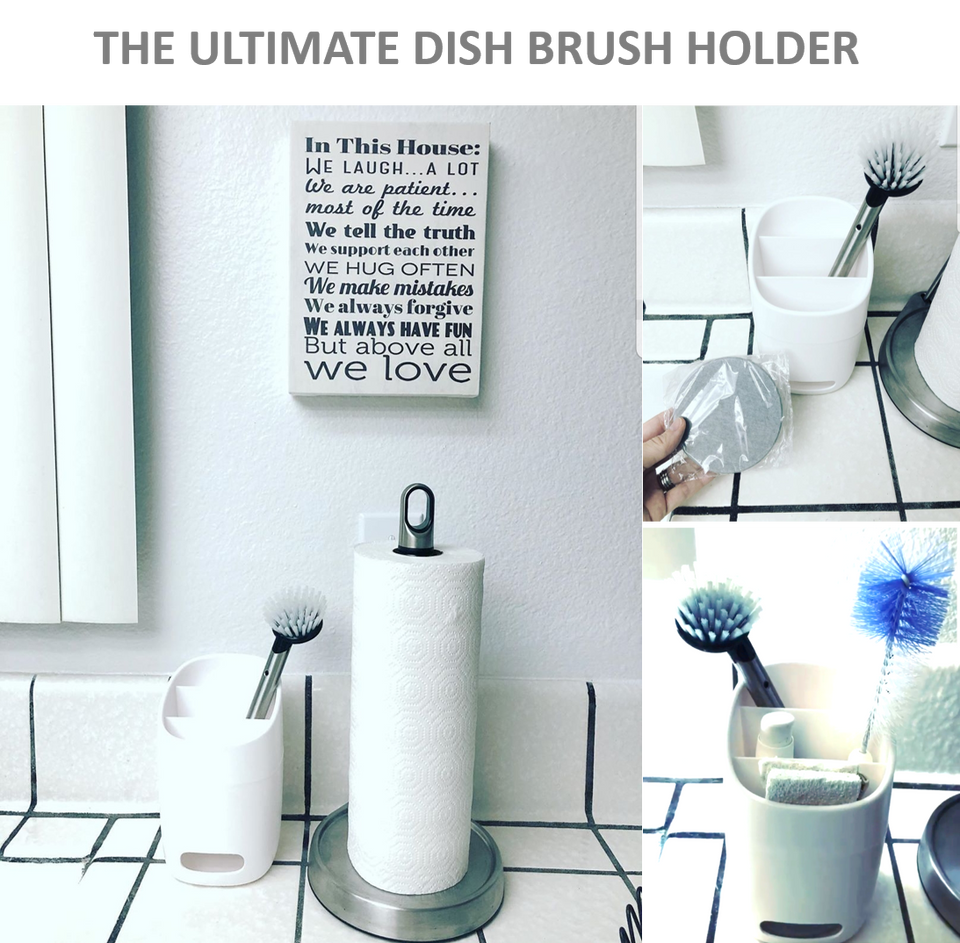 Multi Purpose Holder, Utensil Drying Rack with Diatomite