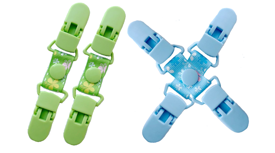 Plastic Clips for Gloves & Mittens - 2 Pairs