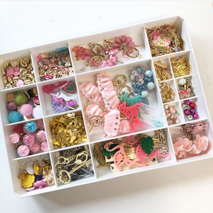 Stackable Jewelry Charm Craft Tray Organizer
