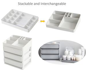 Cosmetic Makeup and Jewelry Organizer Storage Set