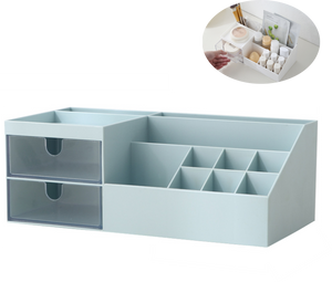 Makeup Organizer Storage Set with 2 Clear Drawers