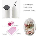 Countertop Trash Can / Makeup Brush Holder with Lid