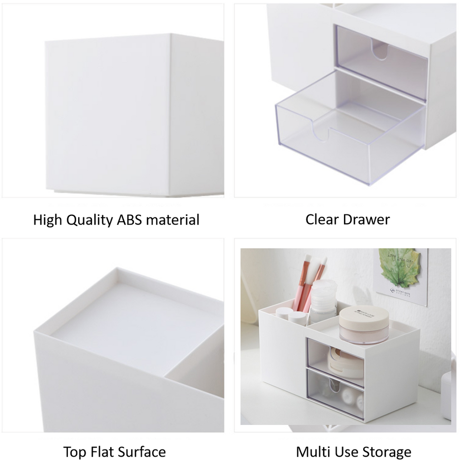 Mini Holder with 2 Clear Drawers