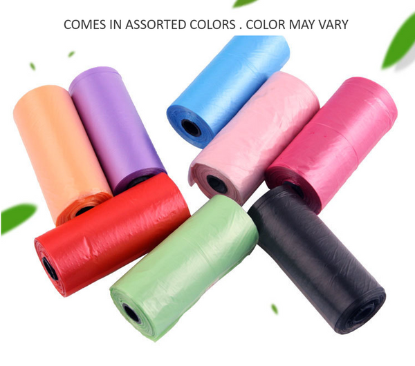 Trash Garbage Bags Multi Color 105 Counts