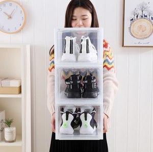 Shoe Storage Box Clear Stackable