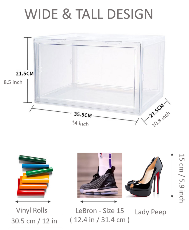 Storage Box Clear Stackable