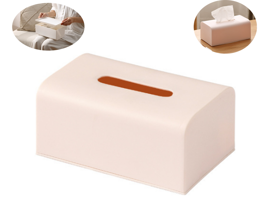 Plastic Paper Facial Tissue Long Box Cover Holder with Bottom