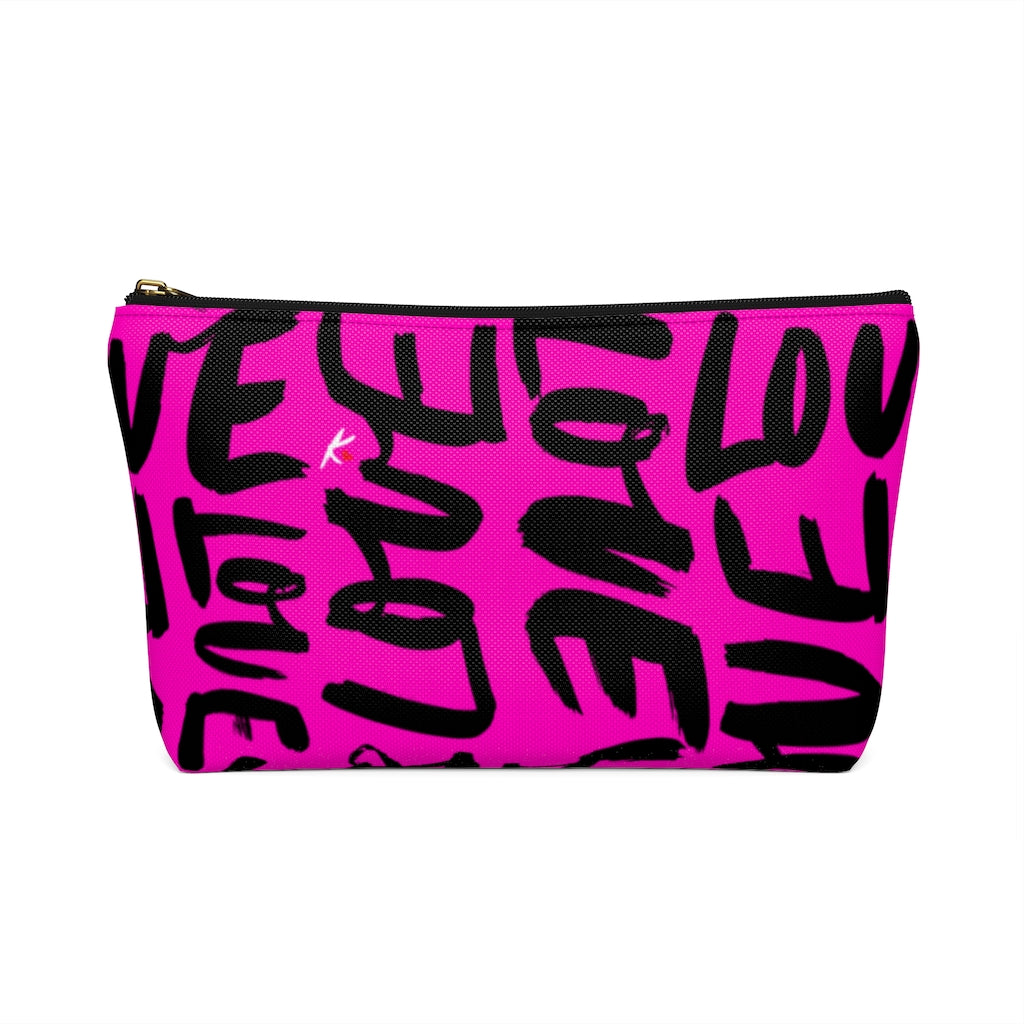 Pink Love Accessory Pouch