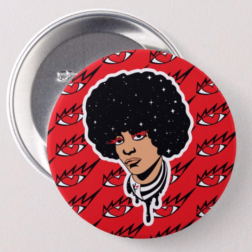 Eye Know Angela Davis Button