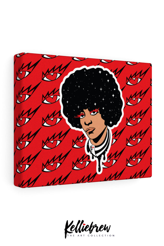 Eye Know Angela Davis Canvas Print 10x8