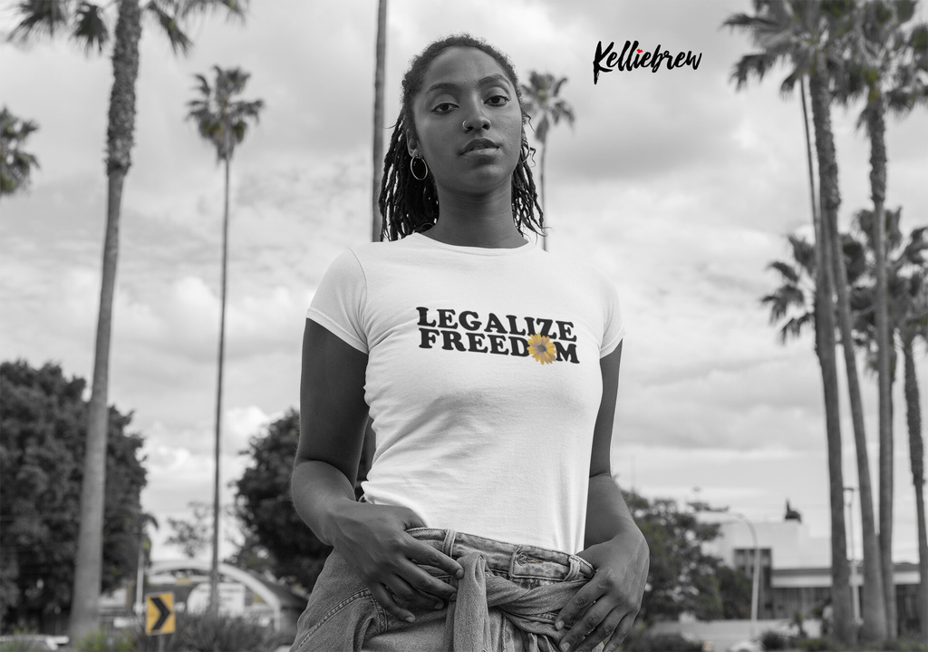 Legalize Freedom Black Jersey Short Sleeve Tee