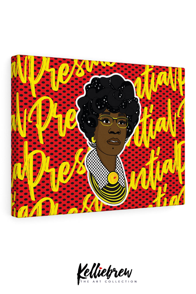 Shirley Chizzle Presidential Canvas Print 10x8