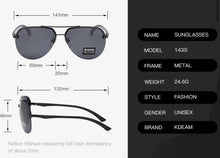 Load image into Gallery viewer, Benzi Aviators - KDEAM OPTICS USA