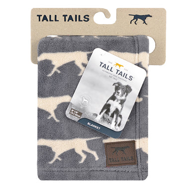 Tall Tails Fleece Dog Blanket in Charcoal Grey