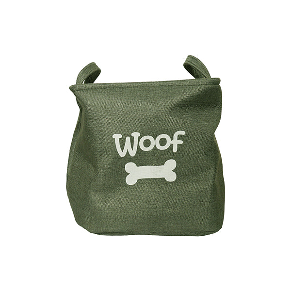 Dog Canvas Toy Basket