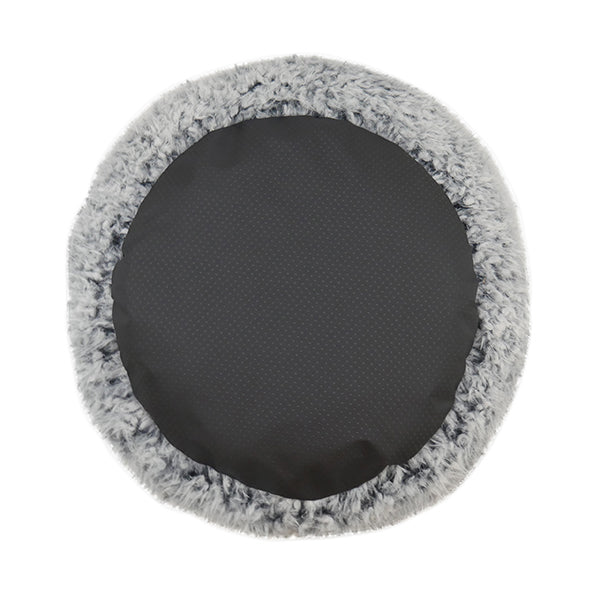 Comfort Round Dog Bed in Grey