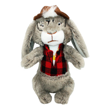 Dandy Dude Rabbit Plush Dog Toy
