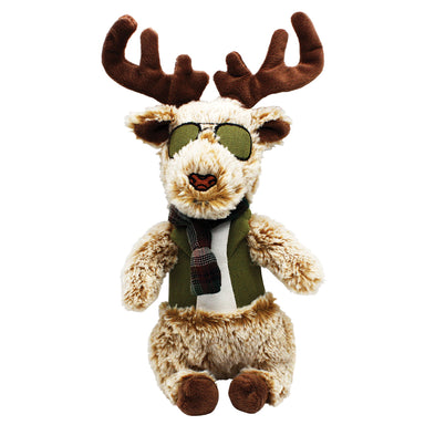 Dandy Dude Reindeer Plush Dog Toy