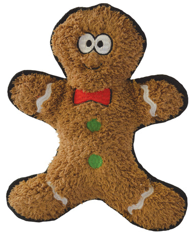Christmas Gingerbread Man Crinkly Dog Toy