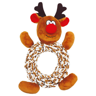 Knottie Ring Reindeer - Dog Toy