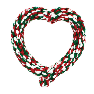 Festive Rope Heart - Dog Toy