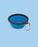 Dog Travel Bowl with clip - Blue