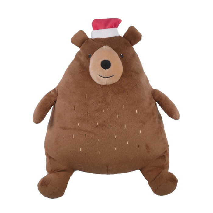 Festive Giggling Bear Dog Toy