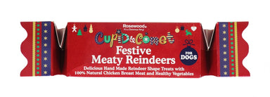 Reindeer Christmas Cracker Treat Gift Box for Dogs