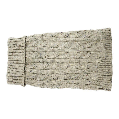 Buster & Beau Cable Knit Dog Jumper in Nutmeg