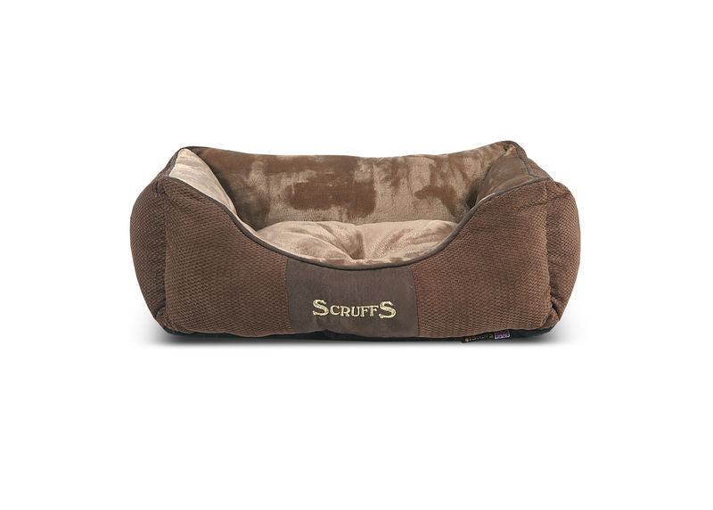 Chester Box Dog Bed in Brown