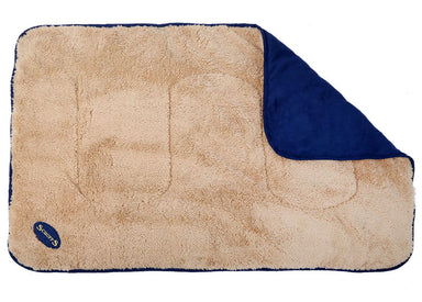 Scruffs Reversible Snuggle Blanket in Blue