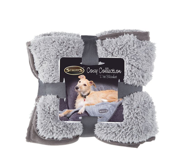 Scruffs Cosy Dog Bed & Blanket Bundle in Grey
