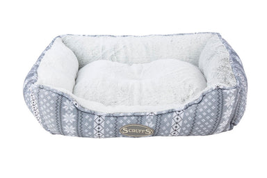 Scruffs Santa Paws Dog Bed in Grey
