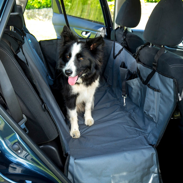 Car Seat Protector & Hammock with pockets for Dogs