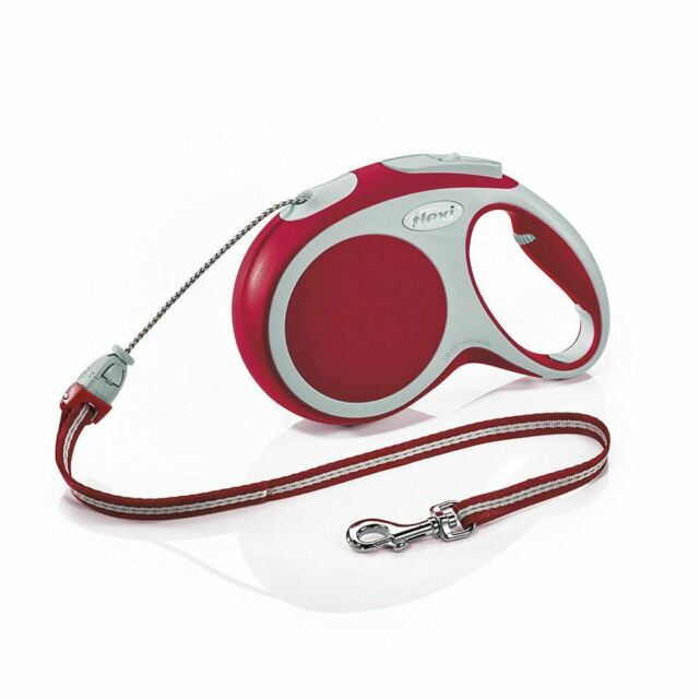 Flexi Vario Retractable Cord Lead Medium- Red