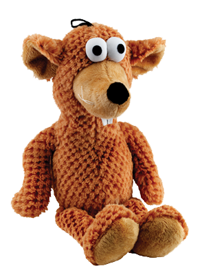 Goofy Bear Soft Dog Toy