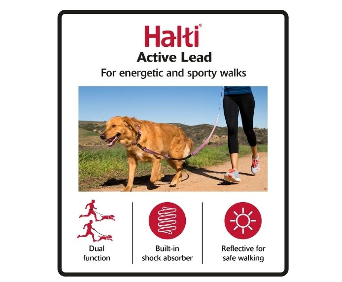 Halti Active Lead for Dogs in Black/Grey