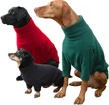 Water Resistant Dog Fleece Jumper in Green
