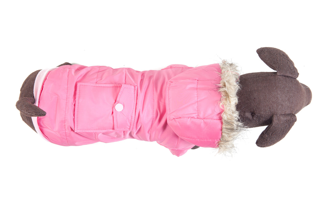 Pink Parka with Pocket