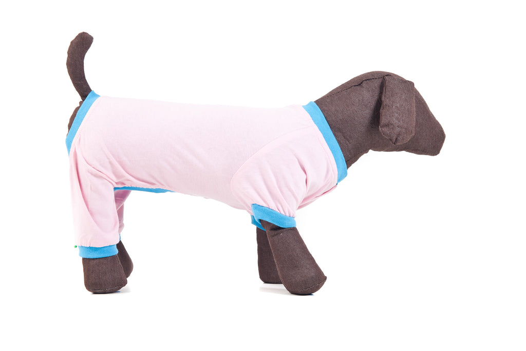 Dog Pyjamas Pink Small To Medium Breeds Wee Pet Dog Clothing